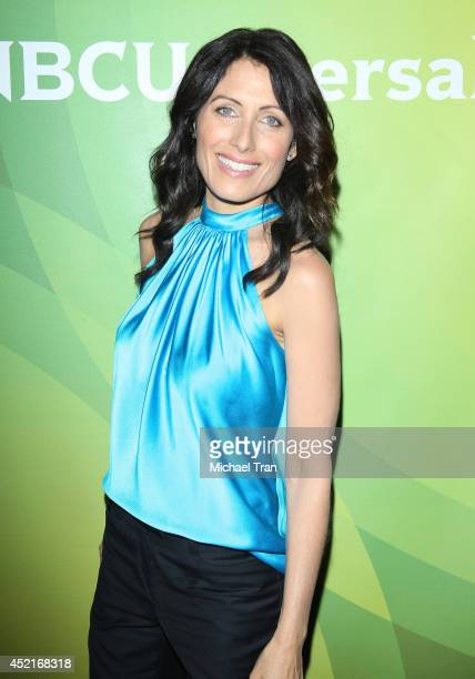 Lisa Edelstein arrives at the 2014 Television Critics Association Summer Press Tour - NBCUniversal - Day 2 held at The Beverly Hilton Hotel on July...