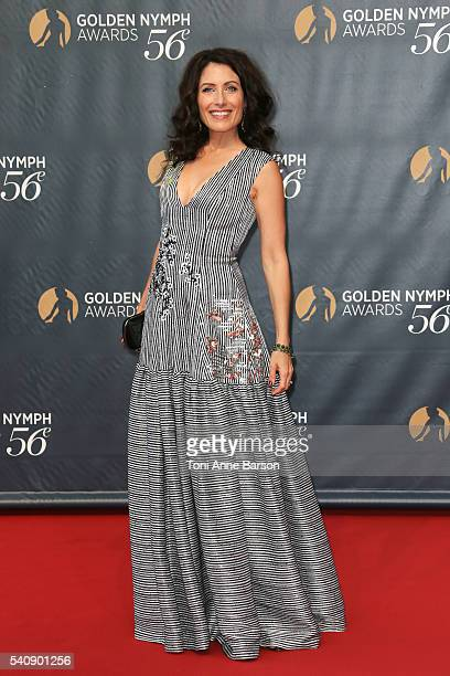 Lisa Edelstein arrives at the 56th Monte Carlo TV Festival Closing Ceremony and Golden Nymph Awards at The Grimaldi Forum on June 16 2016 in...