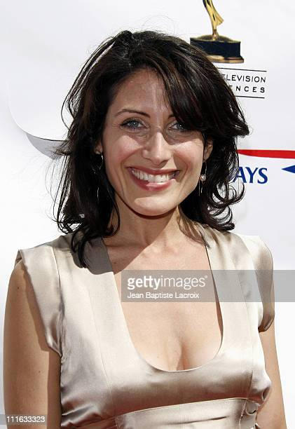 Lisa Edelstein arrives at the 5th Annual Primetime Emmy Nominees' BAFTA Tea Party at Wattles Mansion on September 15 2007 in Los Angeles California