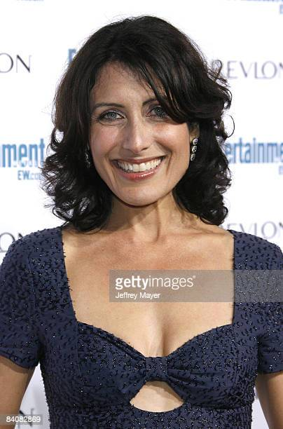 Lisa Edelstein arrives at the Entertainment Weekly's 6th Annual Pre-Emmy Celebration at The Historic Beverly Hills Post Office on September 20, 2008...