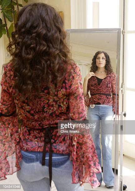 Lisa Edelstein at Penny Preville during W Magazine Hollywood Retreat Day One at Private Residence in Beverly Hills California United States