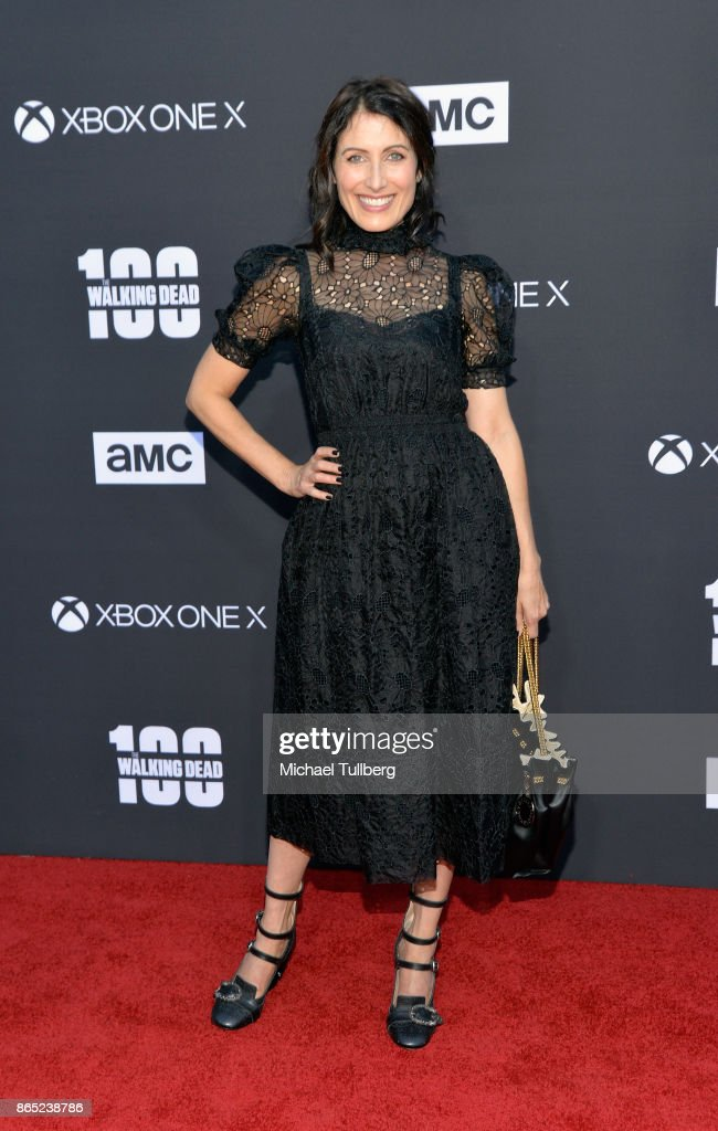 Lisa Edelstein attends AMC's celebration of the 100th episdoe of 'The Walking Dead' at The Greek Theatre on October 22, 2017 in Los Angeles, California.