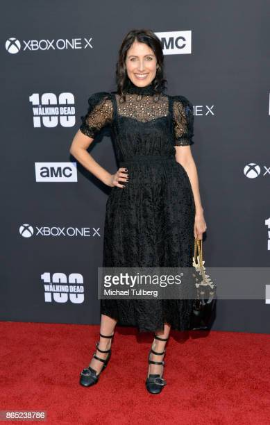Lisa Edelstein attends AMC's celebration of the 100th episdoe of 'The Walking Dead' at The Greek Theatre on October 22 2017 in Los Angeles California