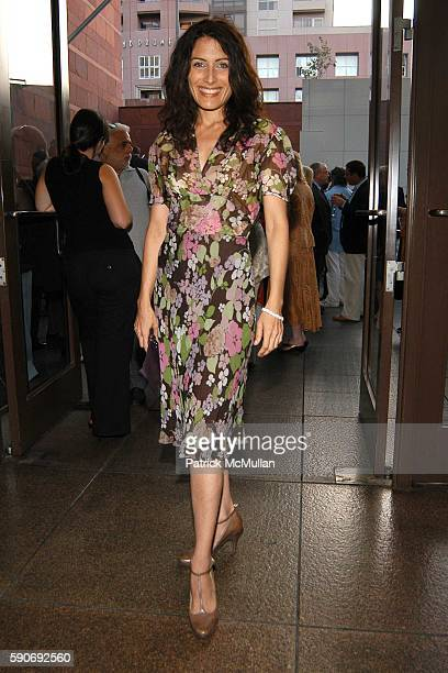 Lisa Edelstein attends Basquiat Exhibition Preview at MOCA on July 15 2005 in Los Angeles CA