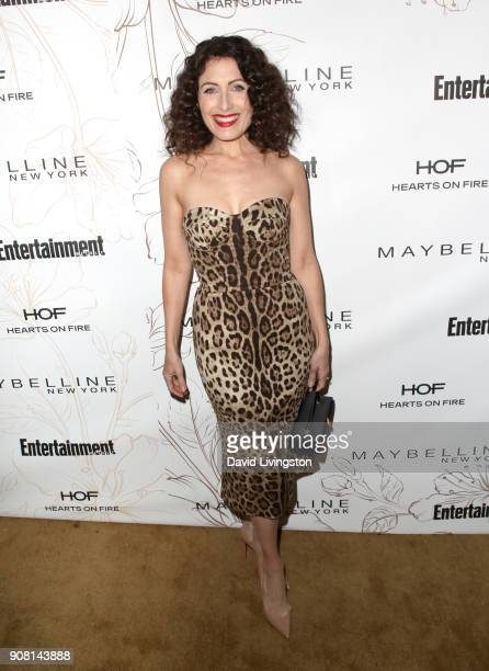 Lisa Edelstein attends Entertainment Weekly's Screen Actors Guild Award Nominees Celebration sponsored by Maybelline New York at Chateau Marmont on...