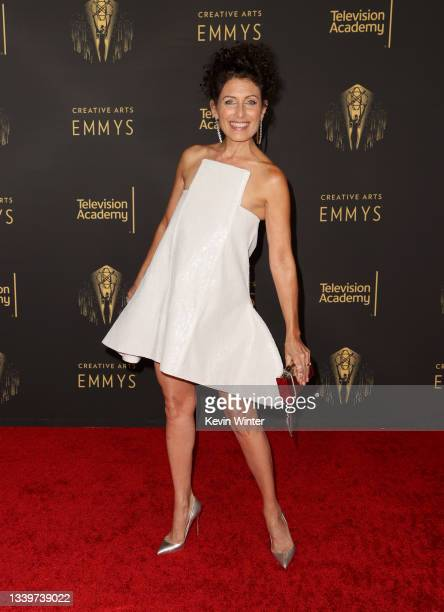 Lisa Edelstein attends the 2021 Creative Arts Emmys at Microsoft Theater on September 11, 2021 in Los Angeles, California.