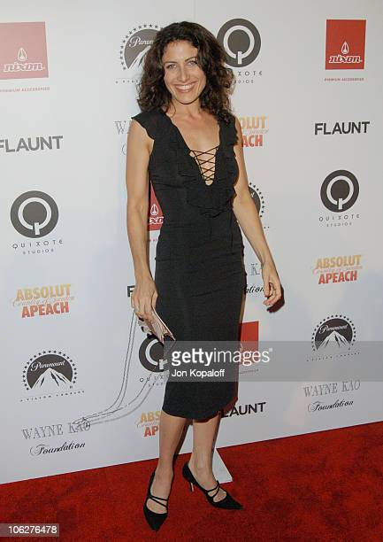 Lisa Edelstein during Flaunt Magazine 7th Anniversary Party and Holiday Toy Drive Arrivals at Private Residence in Los Angeles California United...