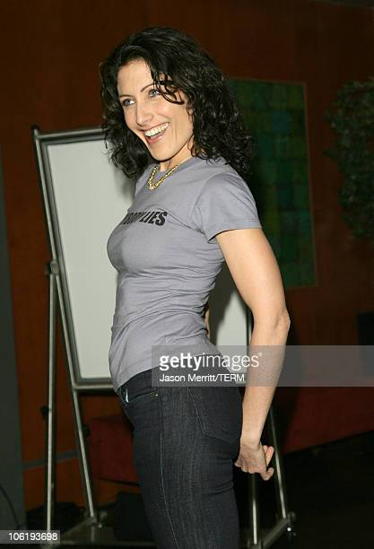 Lisa Edelstein during House Announces Creation of Exclusive Houseism Tees at 20th Century Fox Lot in Los Angeles California United States