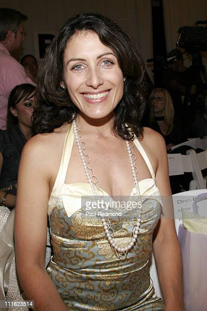 Lisa Edelstein during MercedesBenz Spring 2007 LA Fashion Week at Smashbox Studios Dina BarEl Front Row and Backstage at Smashbox Studios in Culver...