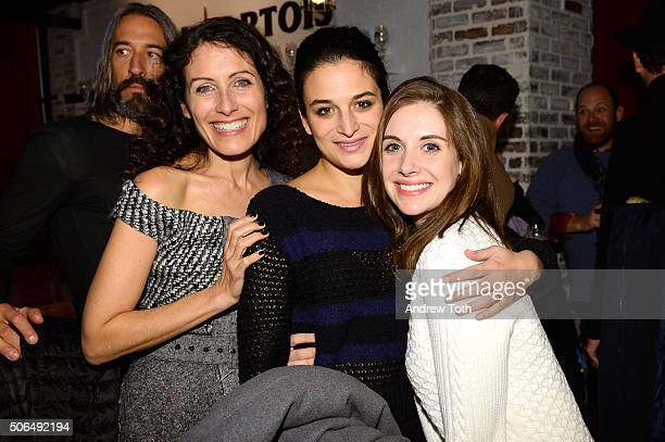 Lisa Edelstein Jenny Slate and Alison Brie attend Stella Artois Filmmaker Lounge presents 'Joshy' supper on January 23 2016 in Park City Utah