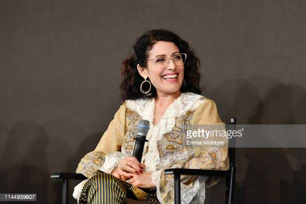 Lisa Edelstein speaks onstage during Power On Premiere By Straight Up Films With Support From YouTube at Google Playa Vista Office on April 24 2019...