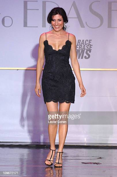 Lisa Edelstein wearing Tommy Hilfiger during 14th Annual Race to Erase MS Themed 'Dance to Erase MS' Show at Hyatt Regency Century Plaza in Century...