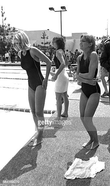 Lisa Eilbacher Randi Oakes and Heather Locklear attend the taping of Battle of the Network Stars on April 23 1983 at Pepperdine University in Malibu...