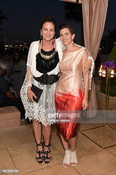Lisa Eisner and Nina Clemente attend Barneys New York Hosts Dinner to Celebrate the Fragrance Collaboration between Russell Westbrook and Ben Gorham...