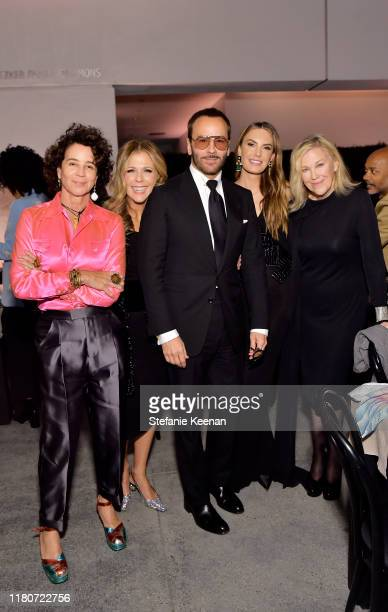 Lisa Eisner Rita Wilson Tom Ford Elizabeth Chambers and Catherine O'Hara attend Hammer Museum's 17th Annual Gala In The Garden on October 12 2019 in...