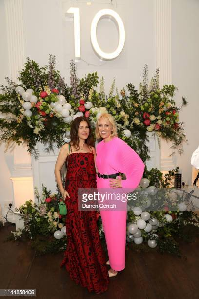 Lisa Eldridge and Emma Mortimer attend the Outnet's 10th Anniversary Dinner on April 24 2019 in London England