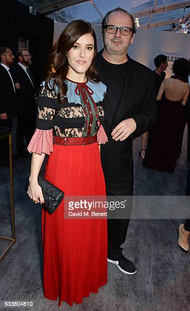 Lisa Eldridge and Robin Derrick attend British Vogue's Centenary gala dinner at Kensington Gardens on May 23 2016 in London England