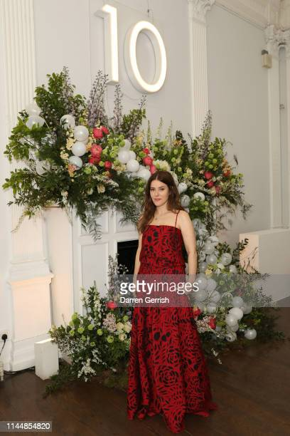 Lisa Eldridge attends the Outnet's 10th Anniversary Dinner on April 24 2019 in London England