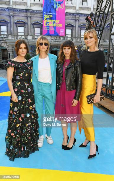 Lisa Eldridge Edie Campbell Annie Morris and Sophie Dahl attend the Royal Academy Of Arts summer exhibition preview party 2018 on June 6 2018 in...