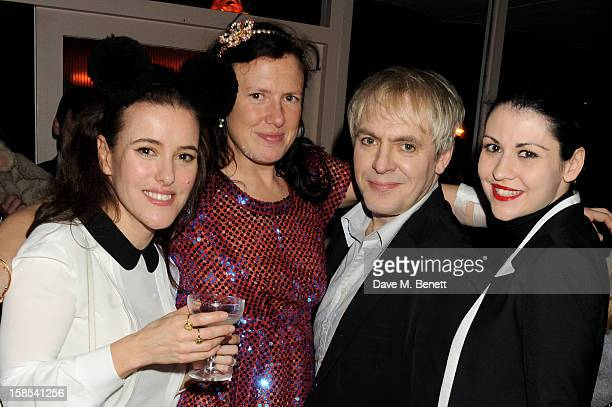 Lisa Eldridge Katie Grand Nick Rhodes and Nefer Suvio attend the Katie Grand Olivier Rousteing LOVE Christmas Party hosted by Balmain at Shrimpy's on...