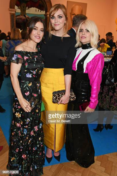 Lisa Eldridge Sophie Dahl and Paloma Faith attend the Royal Academy Of Arts summer exhibition preview party 2018 on June 6 2018 in London England