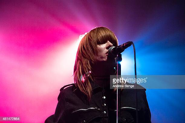 Lisa Elle of Dark Horses performs on stage at The Ritz Manchester on June 29 2014 in Manchester United Kingdom