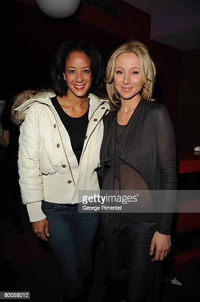 Lisa Ellis Exc vice President Sony Music Group and Belinda Stronach attends the ONEXONE/Diesel for initiative Yele Haiti at MED Bar and Grill in...