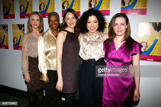 Lisa Emery Aleta Mitchell Natalie Gold Mimi Lieber and Shana Dowdeswell attend Opening night of DISTRACTED at Laura Pels Theatre on March 4 2009 in...