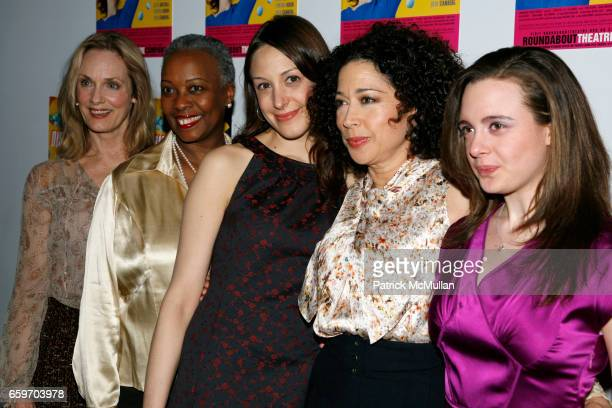 Lisa Emery, Aleta Mitchell, Natalie Gold, Mimi Lieber and Shana Dowdeswell attend Opening night of DISTRACTED at Laura Pels Theatre on March 4, 2009...