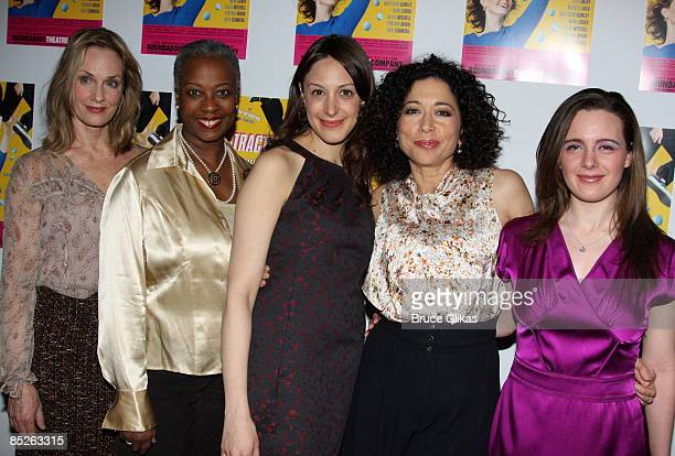 Lisa Emery Aleta Mitchell Natalie Gold Mimi Lieber and Shana Dowdeswell pose the opening night Distracted at the Roundabout Theatre Company's Laura...