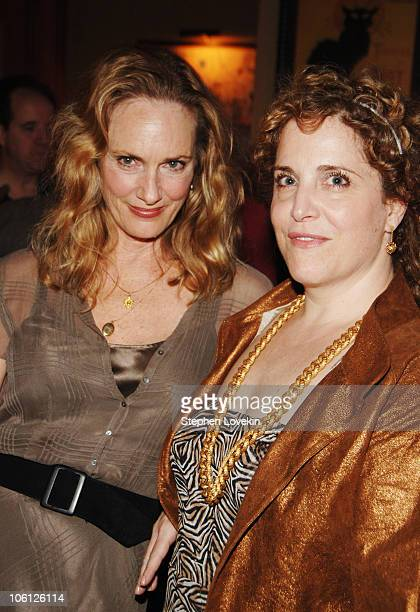 Lisa Emery and Claudia Sheer during The Prime of Miss Jean Brodie Opening Night at Pigalle in New York City New York United States