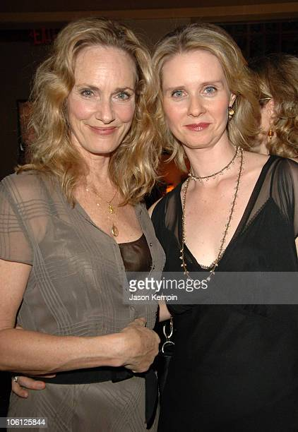Lisa Emery and Cynthia Nixon during The Prime of Miss Jean Brodie Party at Pigalle October 9 2006 at Pigalle in New York City New York United States