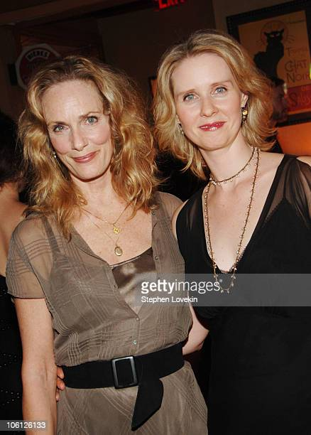 Lisa Emery and Cynthia Nixon during The Prime of Miss Jean Brodie Opening Night at Pigalle in New York City New York United States