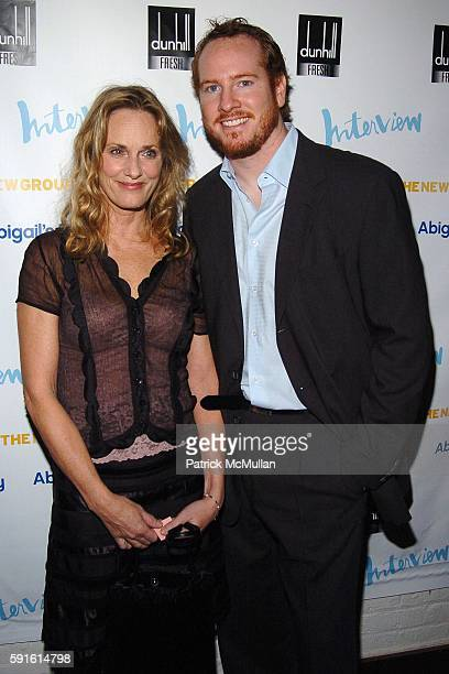 Lisa Emery and Darren Goldstein attend INTERVIEW MAGAZINE Afterparty for the Opening Night of the Off Broadway Play ABIGAIL'S PARTY at Sascha on...