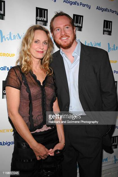 """Lisa Emery and Darren Goldstein during The New Group Presents """"Abigail's Party"""" at Sacha in New York City, New York, United States."""