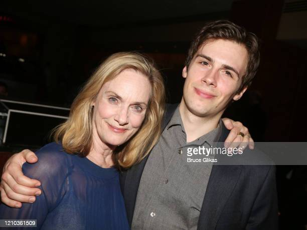 """Lisa Emery and son Zane Pais pose pose at the opening night after party for the new Richard Greenberg play """"The Perplexed"""" at Brasserie 8 1/2 on..."""