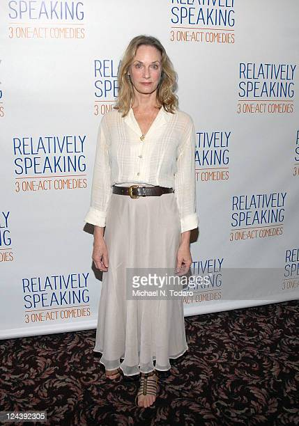 Lisa Emery attends a meet greet with the cast of Broadway's Relatively Speaking at Sardi's on September 9 2011 in New York City