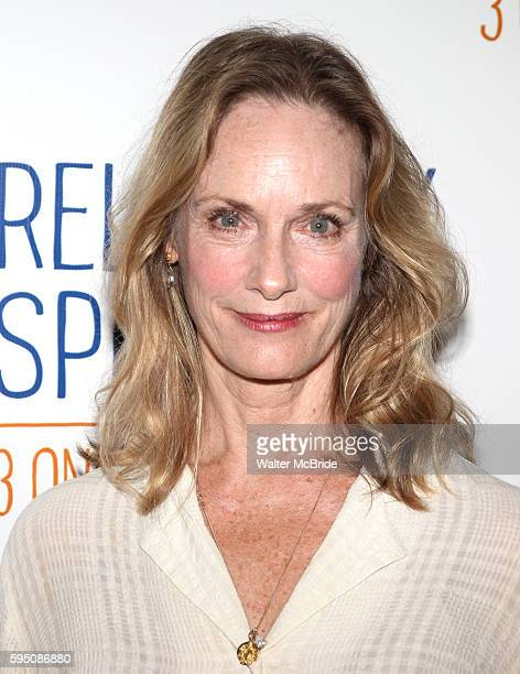 Lisa Emery attends the Meet & Greet the Cast of Broadway's 'Relatively Speaking' at Sardi's in New York City.