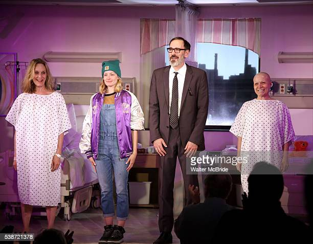 Lisa Emery, Beth Behrs, Erik Lochtefeld and Jacqueline Sydney during the opening night curtain call for 'A Funny Thing...' at Lucille Lortel Theatre...