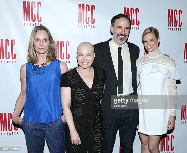 Lisa Emery Jacqueline Sydney Erik Lochtefeld and Beth Behrs attend the opening night afterparty for A Funny Thing at SushiSamba 7 on June 7 2016 in...