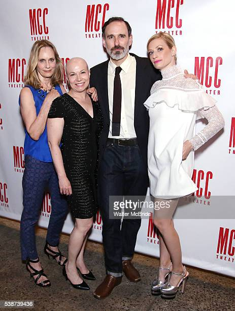 Lisa Emery, Jacqueline Sydney, Erik Lochtefeld and Beth Behrs attend the opening night afterparty for 'A Funny Thing...' at SushiSamba 7 on June 7,...