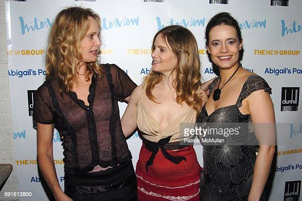 Lisa Emery Jennifer Jason Leigh and Elizabeth Jasicki attend INTERVIEW MAGAZINE Afterparty for the Opening Night of the Off Broadway Play ABIGAIL'S...