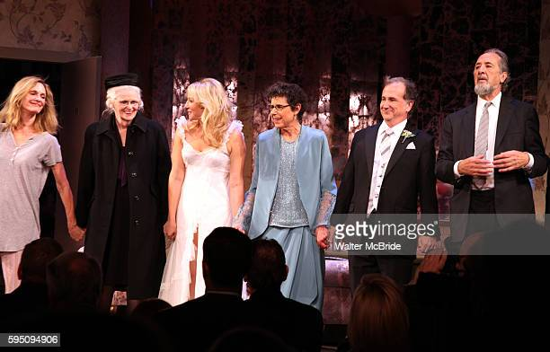 Lisa Emery, Patricia O'Connell, Ari Graynor, Julie Kavner, Mark Linn-Baker, Richard Libertini during the Opening Night Curtain Call for 'Relatively...