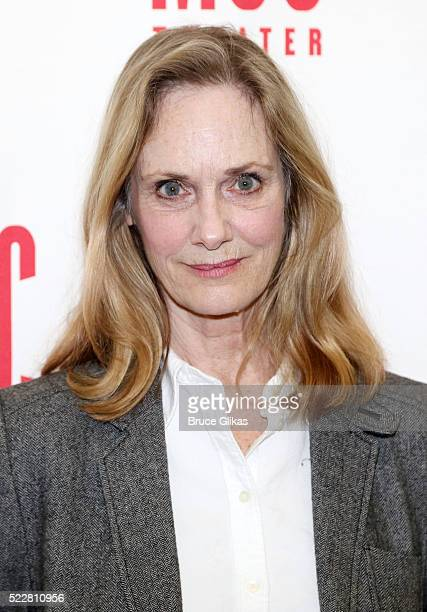 "Lisa Emery poses at the ""A Funny Thing..."" Cast Photocall at The Roundabout Theatre Rehearsal Studios on April 20, 2016 in New York City."