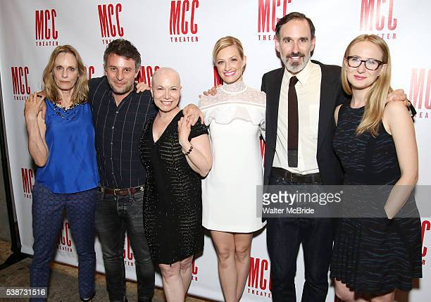 Lisa Emery, Trip Cullman, Jacqueline Sydney, Beth Behrs, Erik Lochtefeld and Halley Feiffer attend the opening night afterparty for 'A Funny...