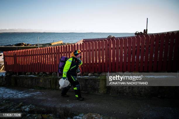 Lisa Enroth an emergency nurse and film fan from Skovde, arrives to Hamneskar island, near Marstrand island, north west of Gothenburg, Sweden on...