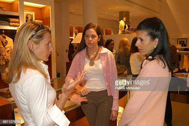 Lisa Errico Katie Colgate and Alexandra Mandis attend Bunny Hop Kickoff Breakfast at Ralph Lauren 888 Madison Avenue on February 24 2005 in New York...