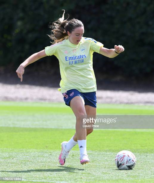 Lisa Evans of Arsenal during the Arsenal Women training session at Arsenal Academy on July 29 2020 in Walthamstow England