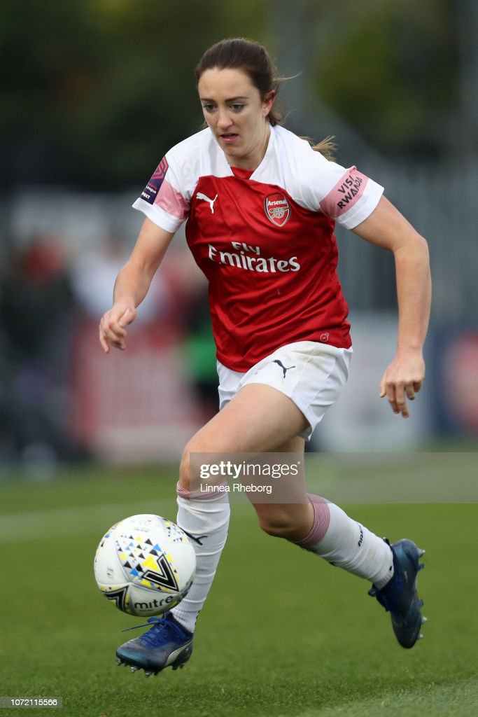 Lisa Evans Of Arsenal In Action During The Fa Super League
