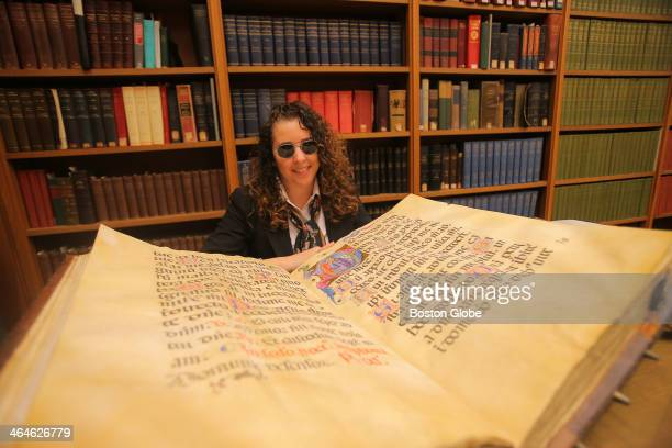 Lisa Fagin Davis is a medieval manuscript expert from Newton who is blogging about medieval manuscripts around the country She is photographed in the...